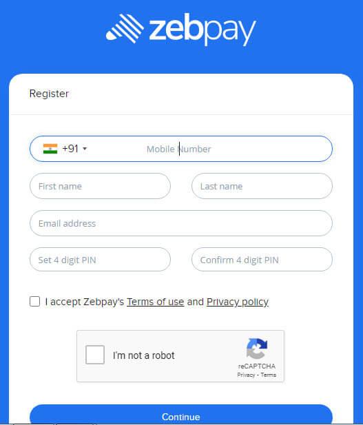 Bitcoin Zebpay Register