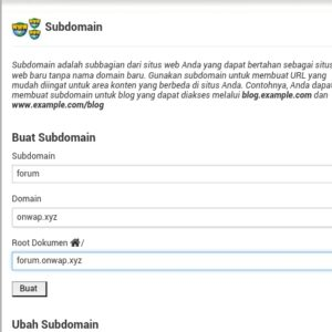 tutorial cara membuat subdomain di cpanel hosting 1