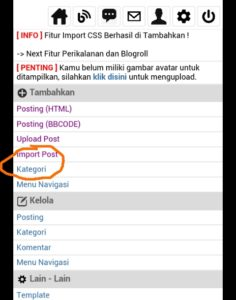 tutorial blogponsel.net cara membuat posting dan kategori 1