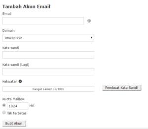 cara membuat email dengan domain sendiri di cpanel hosting 1
