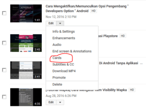 cara memasang kartu di video youtube 1