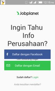 Cara Daftar Jobplanet Indonesia Android Apk