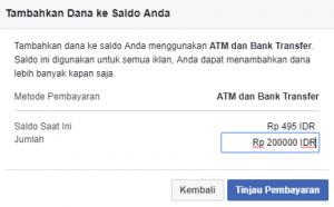 cara mengisi saldo fb ads menggunakan bank lokal 3