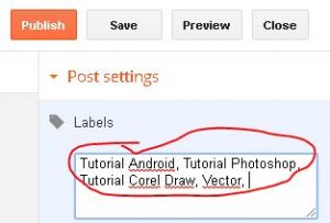 cara membuat label di blogspot 2