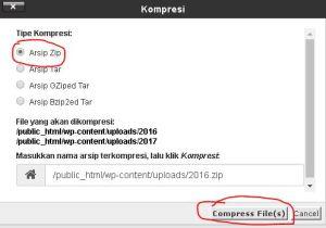 Cara Mengunduh Semua File Di WordPress Lewat Cpanel 5