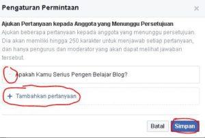 cara membuat pertanyaan join di grub facebook 2