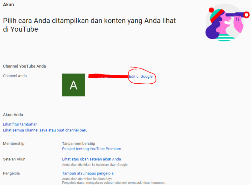 Cara Mengganti Nama Channel Youtube 1