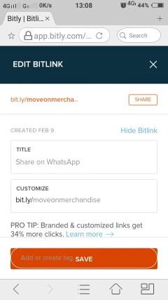 Cara Membuat Custom Short Url Whatsapp Di Bitly Untuk Link Bio Instagram 07