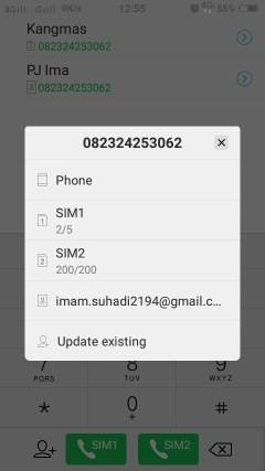 Cara Menyimpan Nomor Hp Ke Email Gmail Android 2