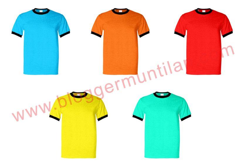 Download Kumpulan Mockup Kaos Ringer Tee Berbagai Warna Terbaru