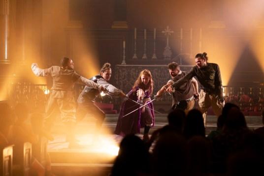 """<img src=""""IrisTheatreThreeMusketeers.jpg"""" alt=""""The Three Musketeers at the Iris Theatre""""/>"""