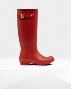 Hunter's Red Rain Boots