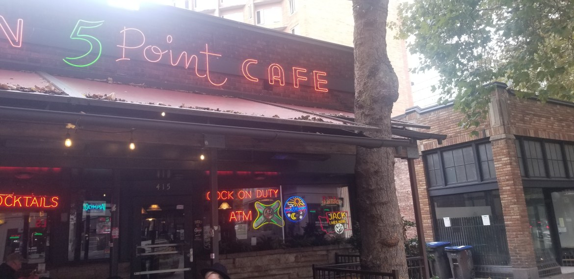 Front of 5 Point Cafe