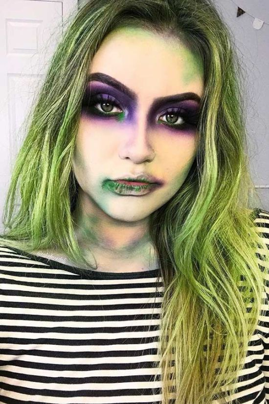 12 Last Minute Halloween Costumes Done With Just Makeup