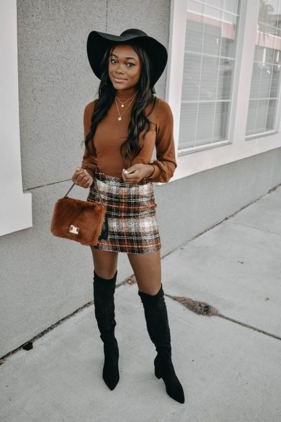 23 Skirt Fall Outfits That Are Sexy AF