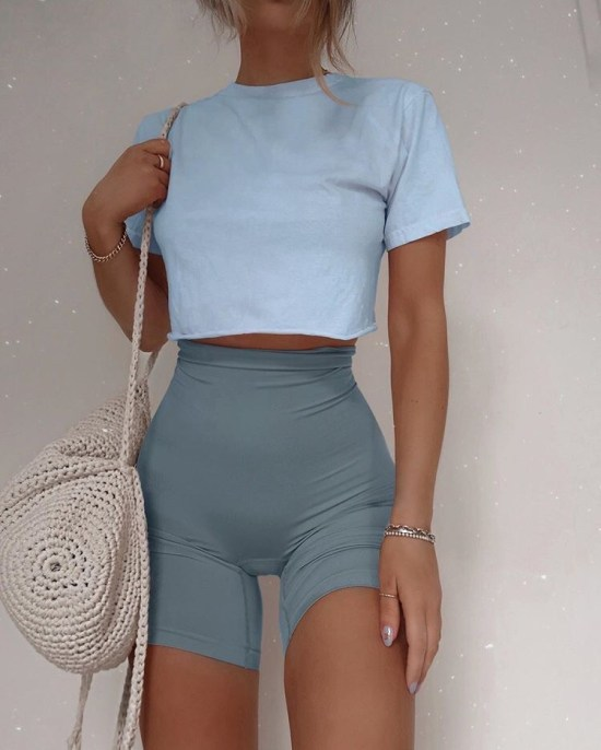 The Cutest Outfits To Pair With Biker Shorts