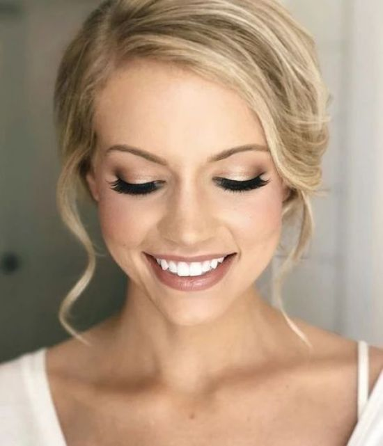 20 Beautiful Natural Wedding Makeup Looks That Are In