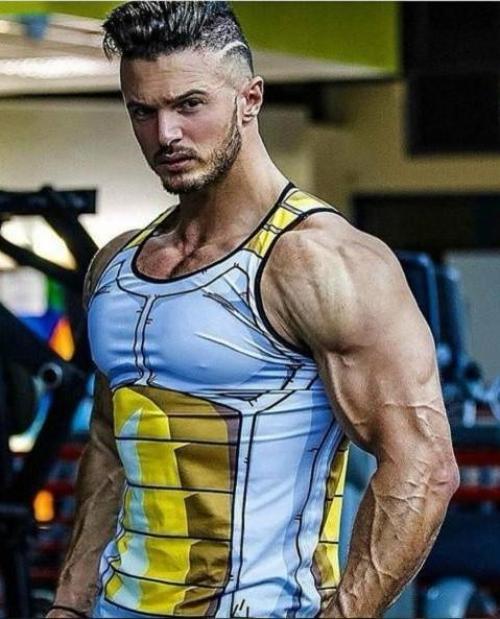 Guy wearing tank top at gym