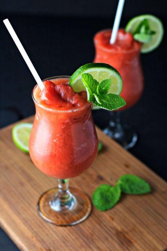 Fruitiest Mocktails - Frozen Lemon Watermelon Nojito