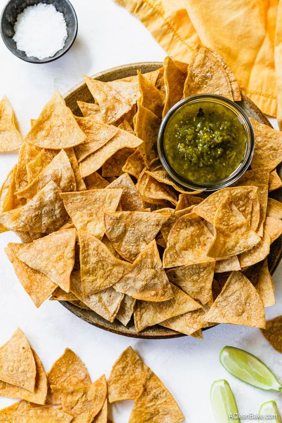 Tortilla chips are one of the best gluten-free snacks to eat that are a good side for your lunch options whether it is taco salad, chicken soup or salsa.