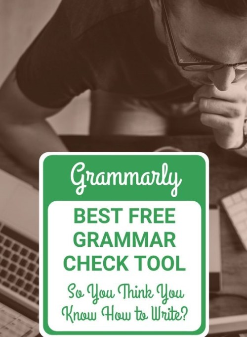 If you are having spelling and grammar problems, go to Grammarly. Grammarly is a service that offers free trials to fix your spelling and grammar errors, so there is no reason for you not to take advantage of this service.