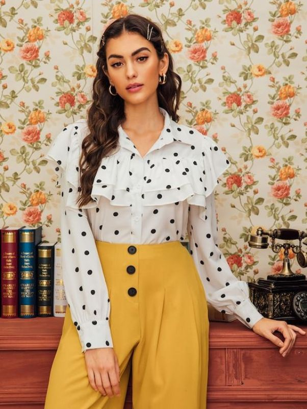 Polka dots are becoming a trend with no signs of stopping.