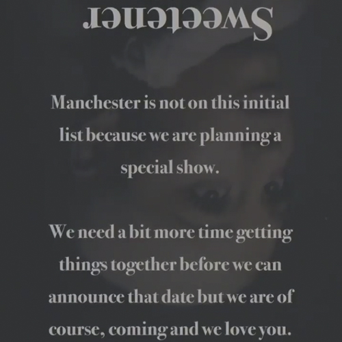 Ariana Grande's Message To Manchester For Tour