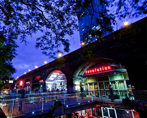 Deansgate Locks Outside Clubs