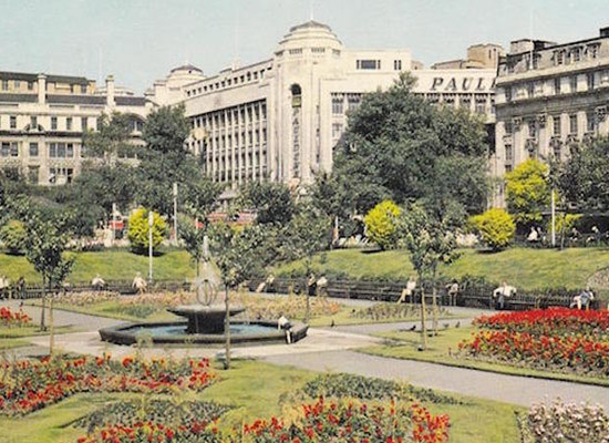Manchester Piccadilly Gardens In The 90s