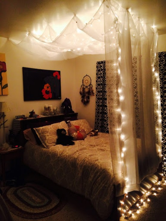 12 Ways To Accent Your Room Using Fairy Lights