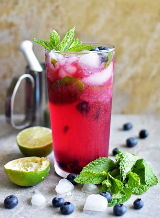 Fruitiest Mocktails - Virgin Blueberry Mojito