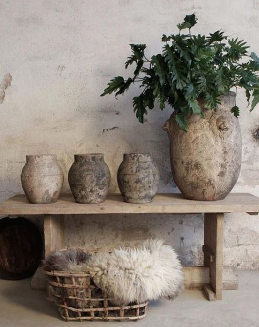 Wabi-sabi is an interior design that integrates a large portion to the natural elements, which is why this design incorporates materials like wood furniture, fabric art, artisanal accents, and ceramics from local furniture stores.