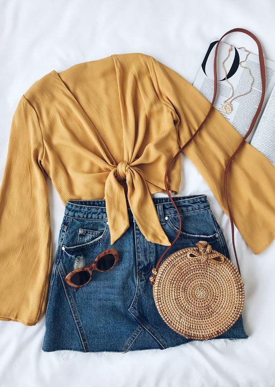 *10 Denim Skirt Looks You Can Rock All Summer