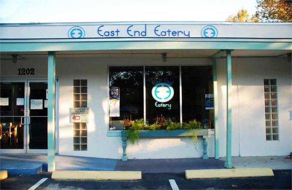 The outside of East End Eatery