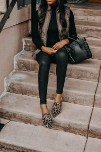 outfit with mules