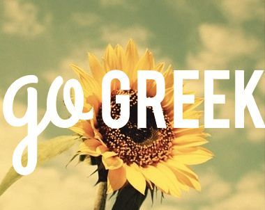 sunflower go greek