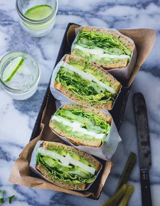 The Green Goddess Sandwich is one of the healthy and easy sandwiches to make for meat-lovers and vegetarians alike.