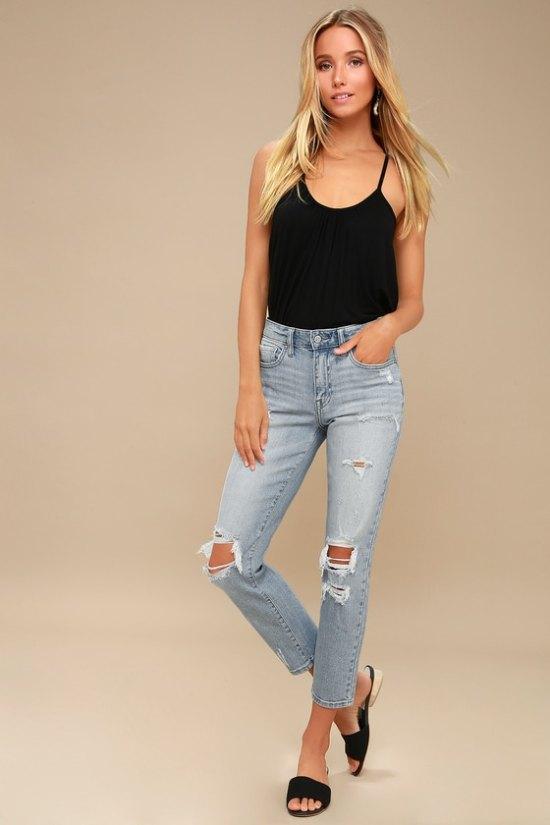fine complete denim outfit pants