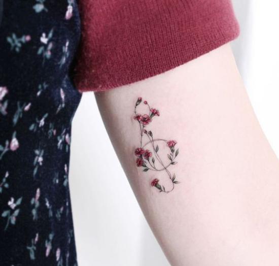 music lover tattoo idea