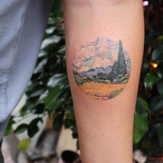 van gogh art tattoo idea
