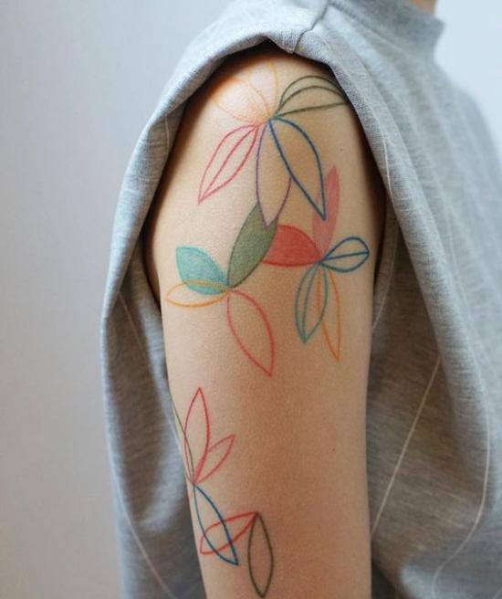 random fun flower tattoo idea