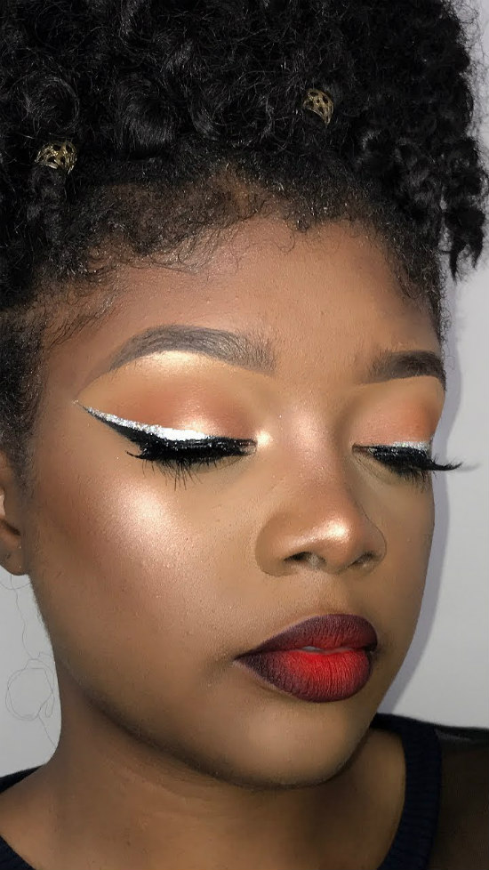 red Valentine's Day makeup