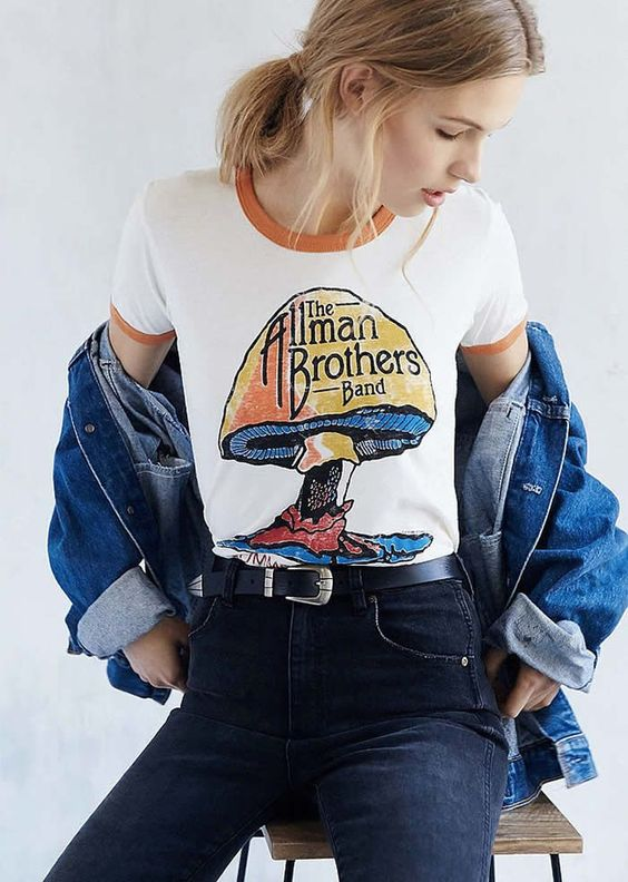 Girl In A Ringer Tee