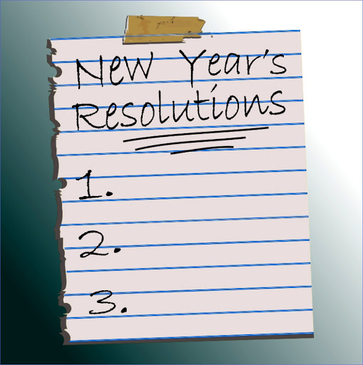 a piece of paper with a space to list resolutions