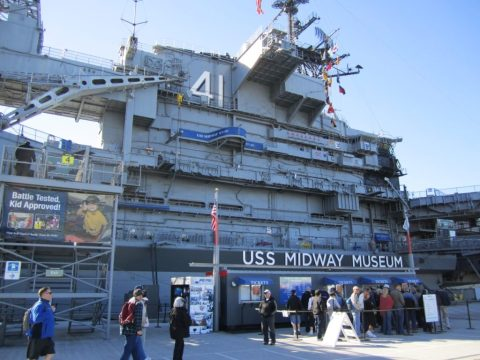 The USS midway is things to do around San Diego University!