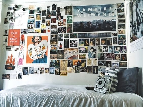 Posters and wall art are easy ways to decorate your dorm room on a budget!
