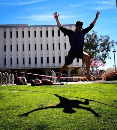 Tight roping is fun things to do around San Diego University!