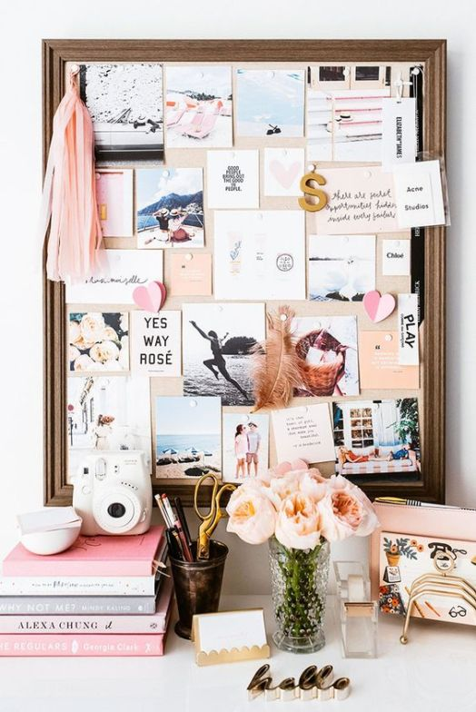Mood or inspo boards are an amazing Uni room decoration idea!