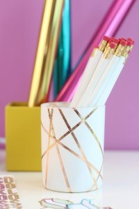 Rose-Gold-Foiled-Pencil-Cup