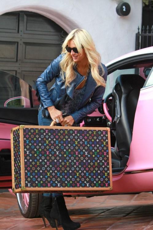 Paris+Hilton+Travel+Bags+Leather+Suitcase+L1v4M_uHLEvl
